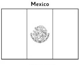 Coloring Mexico Page Mexican Flag