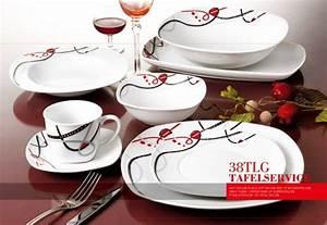 Teller Set Günstig : 38 tlg porzellan tafelservice eckig teller set geschirr 6 personen ess service ebay ~ Orissabook.com Haus und Dekorationen