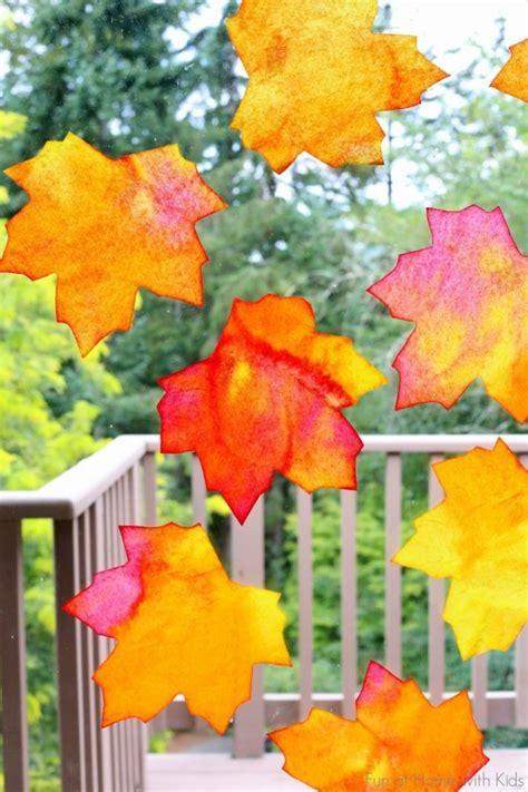Herbstdeko Basteln Für Fenster Kostenlos by Herbstdeko Basteln Mit Kindern 42 Ganz Einfache Und