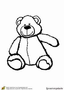 Gros Nounours En Peluche : coloriage d un gros ours en peluche ~ Teatrodelosmanantiales.com Idées de Décoration