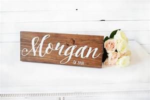 last name sign established sign wedding date sign With wedding gift name sign