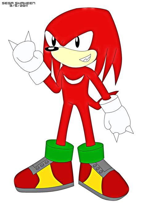 classic knuckles sonic  hedgehog fan art