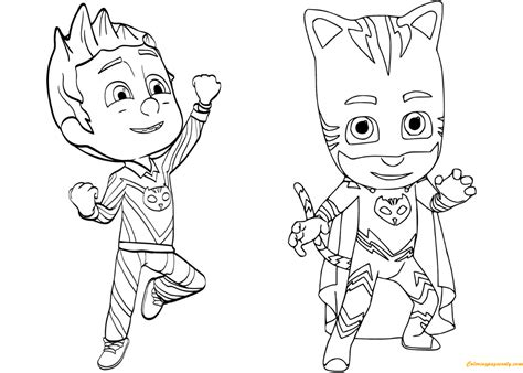 pajama hero connor  catboy  pj masks coloring page