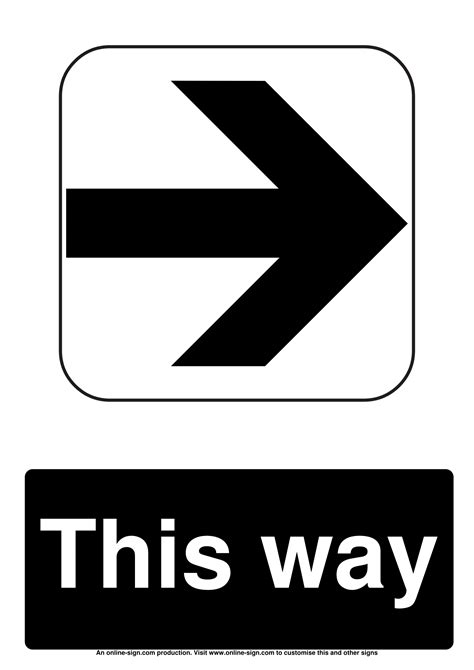 directional signs poster template