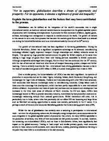 Economic Globalization Essay Essay On Slums Economic Globalization  Economic Globalization Pros And Cons Essay Trademark Assignment Search