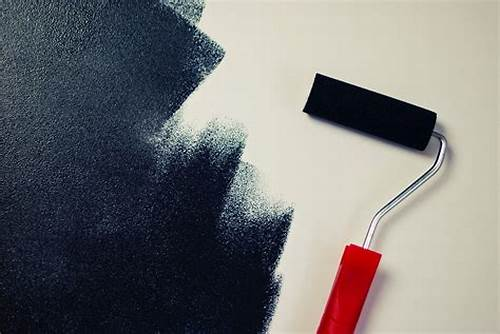 The Walls Are Painted In Black #Free #Stock #Photo #Of #Black #Color, #Paint