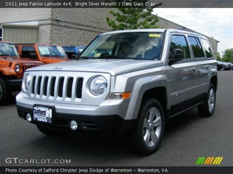 silver jeep patriot interior bright silver metallic 2011 jeep patriot latitude 4x4
