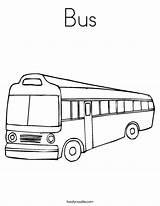 Bus Coloring Built California Usa sketch template