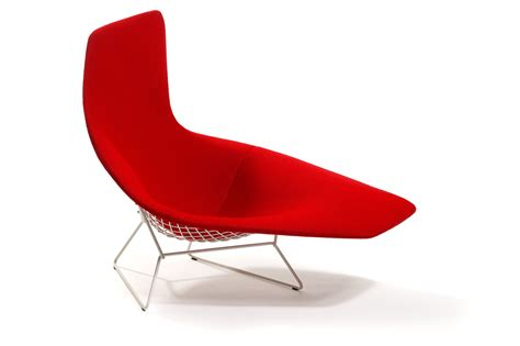 bertoia chaise asymmetric chaise designed by harry bertoia