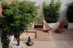 japanischer garten klein bambuspflanzen buddha statue With französischer balkon mit sand für zen garten