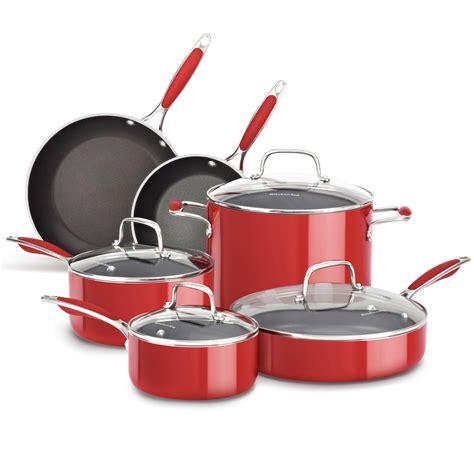 kitchenaid cookware amazon grill panini iron cast press copper lid kitchen aluminum larger stockpot ply tri stick non onyx empire