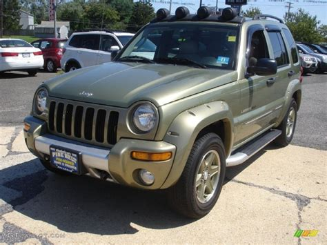 green jeep renegade 2003 cactus green pearl jeep liberty renegade 4x4