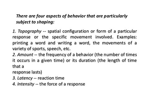 Behavior Modification And Shaping by Behavior Modification Shaping