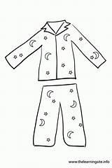 Coloring Pajama Pajamas Printable Pages Spongebob sketch template