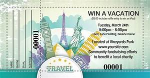 Print Free Raffle Tickets Raffle Ticket Designs For A Travel Themed Prize