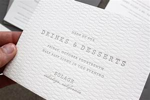 margaret patrick39s understated letterpress wedding With wedding invitation type of paper
