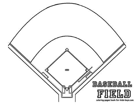 baseball field template fired up free coloring pages baseball mlb players free sports