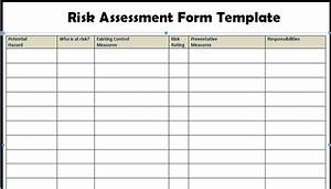 Risk assessment form templates in word excel project for Formal risk assessment template