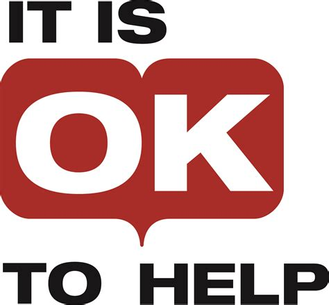 It Is Ok To Help Logo  It's Not Ok