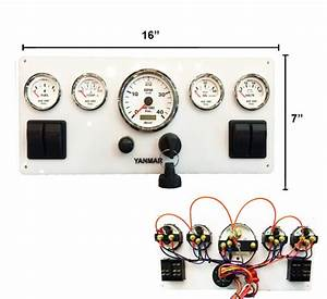 Marine Instrument Panel With 4 Rocker Switches