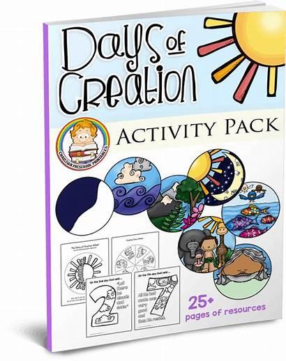 Creation Preschool Days Printables Activity Bible Sunday