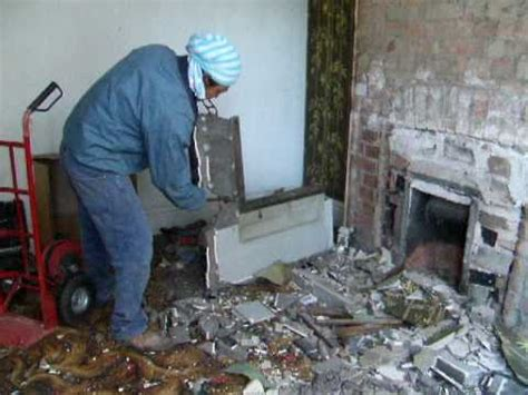 removing  fireplace  youtube