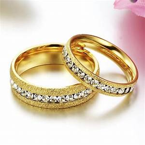 Aliexpresscom buy anelli diamanti crystal gold wedding for Wedding gold rings for women