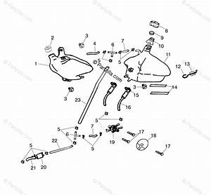 Polaris Atv 2001 Oem Parts Diagram For Oil Tank  Fuel Tank