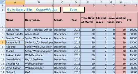 hr payroll templates  excel  exceldatapro