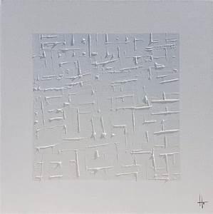 Grand Tableau Blanc : grand tableau peinture monochrome blanc tableau peinture ~ Teatrodelosmanantiales.com Idées de Décoration