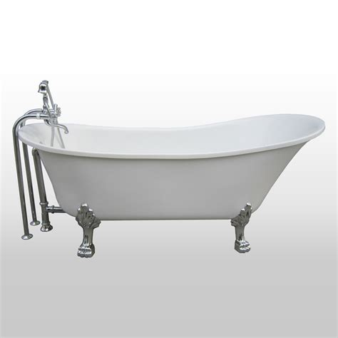 in the tub a e bath shower dorya 69 in all in 1 clawfoot tub all in