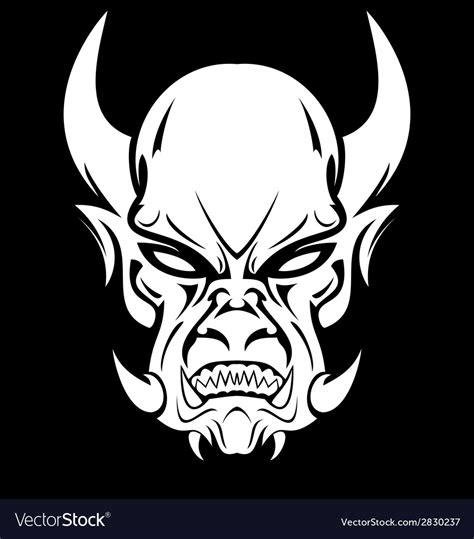 White Demon Face Royalty Free Vector Image - VectorStock