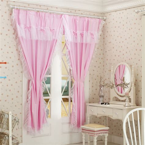 sale bedroom curtains 100 cotton pink window curtain