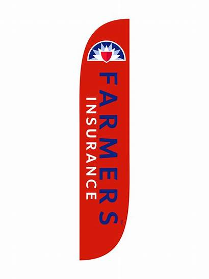 Farmers Insurance Flag Feather 12ft Flags Stencil