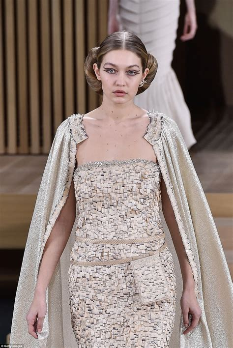 chanel wedding dresses kendall jenner rocks a black gown at chanel 39 s haute couture fashion week show daily mail