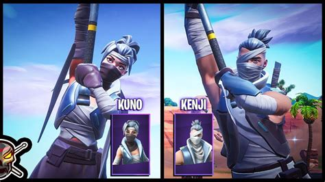 kuno  kenji skins  fortnite youtube