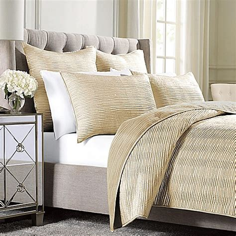 Gold Coverlet by Wamsutta 174 Serenity Coverlet In Gold Bed Bath Beyond