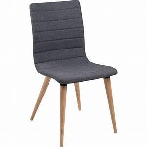 Pied Bois Scandinave : chaise scandinave en tissu et bois doris 4 pieds tables chaises et tabourets ~ Teatrodelosmanantiales.com Idées de Décoration