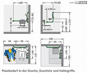 Begehbare Dusche Maße : barrierefreies bad richtig planen mit norm ma e zusch sse ~ Frokenaadalensverden.com Haus und Dekorationen