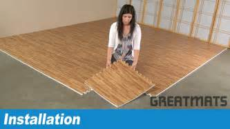 how to install greatmats wood grain foam tiles youtube