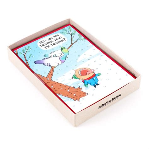 Box set of 24 funny christmas cards by. Hallmark Shoebox Funny Boxed Holiday Cards, Snowbirds (16 ...