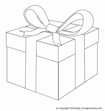 Coloring Pages Gift Box Present Christmas Boxes