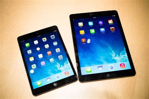 Ipad Air, Ipad Mini (retina) Specs Vs. Ipad 4, Ipad Mini