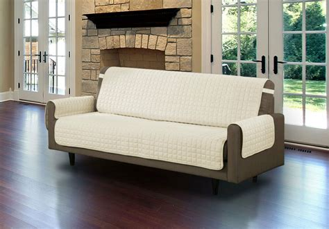 quilted microfiber pet dog couch sofa furniture protector  strap beige ebay