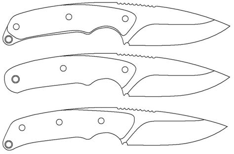 printable knife templates 60 best images about blade templates on skinning knife forum and template