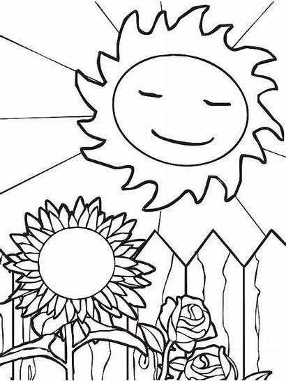 Coloring Summer Pages Printable Sun Sheets Parents