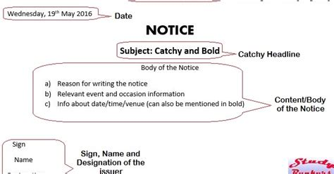 format  writing notice   study rankers