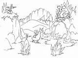 Coloring Cave Mountain Pages Llama Bear Cartoon Mountains Animals Sheets Monkey Bats Bears Riding Waterfalls Llamas Bluebison Waterfall Printable Into sketch template