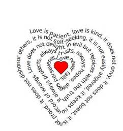 The Word Love Shaped into a Heart