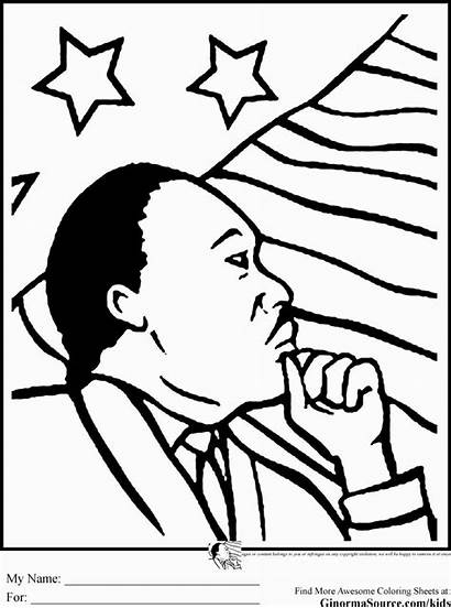Coloring Mlk Luther King Martin Pdf
